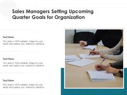 Sales Managers Setting Upcoming Quarter Goals For Organization