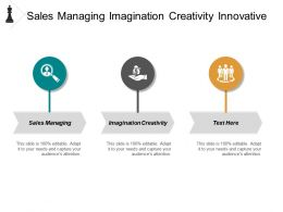 Sales Managing Imagination Creativity Innovative Thinking Industry Information Cpb