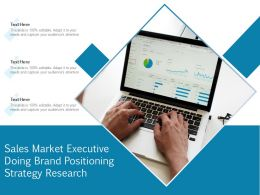 Sales Market Executive Doing Brand Positioning Strategy Research