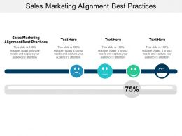 Sales Marketing Alignment Best Practices Ppt Powerpoint Presentation Styles Background Images Cpb