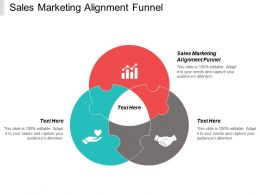 Sales Marketing Alignment Funnel Ppt Powerpoint Presentation Professional Example Cpb