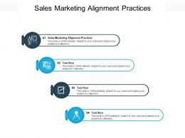 Sales Marketing Alignment Practices Ppt Powerpoint Presentation Summary Templates Cpb