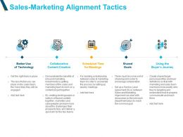 Sales Marketing Alignment Tactics Technology Powerpoint Slides