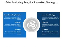 Sales Marketing Analytics Innovation Strategy Purchase Product External Audience
