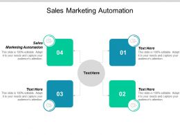 Sales Marketing Automation Ppt Powerpoint Presentation Slides Brochure Cpb