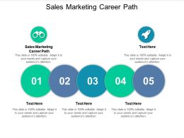 Sales Marketing Career Path Ppt Powerpoint Presentation File Ideas Cpb