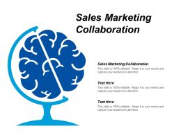 Sales Marketing Collaboration Ppt Powerpoint Presentation Styles Backgrounds Cpb