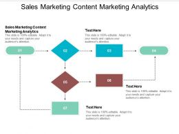 Sales Marketing Content Marketing Analytics Ppt Powerpoint Presentation Ideas Templates Cpb