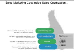Sales Marketing Cost Inside Sales Optimization Marketing Channel Cpb