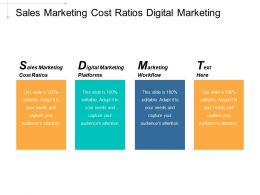 Sales Marketing Cost Ratios Digital Marketing Platforms Marketing Workflow Cpb