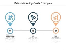 Sales Marketing Costs Examples Ppt Powerpoint Presentation Ideas Demonstration Cpb
