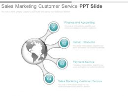 Sales Marketing Customer Service Ppt Slide