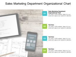 Sales Marketing Department Organizational Chart Ppt Powerpoint Presentation Gallery Format Cpb