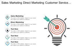 Sales Marketing Direct Marketing Customer Service Management Plan Cpb