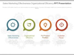 Sales Marketing Effectiveness Organizational Efficiency Ppt Presentation