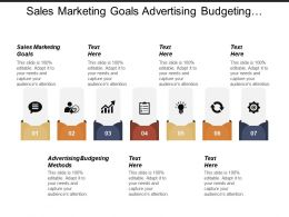 Sales Marketing Goals Advertising Budgeting Methods E Commerce Framework