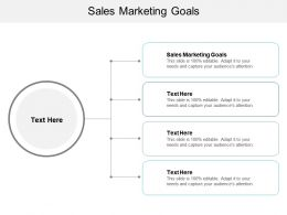 Sales Marketing Goals Ppt Powerpoint Presentation Show Images Cpb