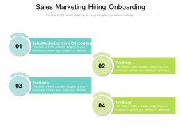 Sales Marketing Hiring Onboarding Ppt Powerpoint Presentation Infographics Model Cpb