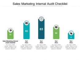 Sales Marketing Internal Audit Checklist Ppt Powerpoint Presentation Pictures Slide Cpb