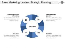 Sales Marketing Leaders Strategic Planning Marketing Expert Marketing Cpb
