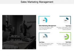 Sales Marketing Management Ppt Powerpoint Presentation Gallery Designs Download Cpb