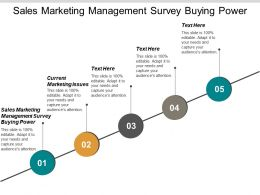 Sales Marketing Management Survey Buying Power Current Marketing Issues Cpb