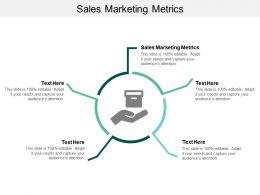 Sales Marketing Metrics Ppt Powerpoint Presentation Professional Model Cpb