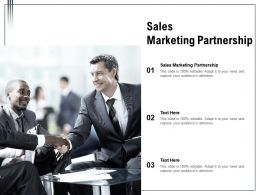 Sales Marketing Partnership Ppt Powerpoint Presentation Ideas Background Images Cpb