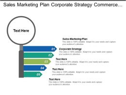 Sales Marketing Plan Corporate Strategy Commerce Development Quality Leadership