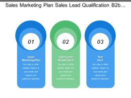 Sales Marketing Plan Sales Lead Qualification B2b Strategy