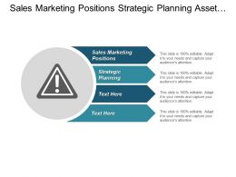 Sales Marketing Positions Strategic Planning Asset Wealth Management Cpb