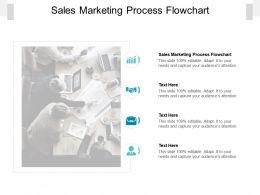 Sales Marketing Process Flowchart Ppt Powerpoint Presentation Summary Inspiration Cpb