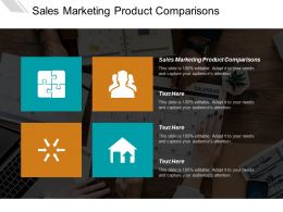Sales Marketing Product Comparisons Ppt Powerpoint Presentation File Files Cpb
