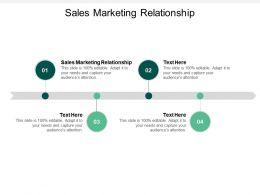 Sales Marketing Relationship Ppt Powerpoint Presentation File Slides Cpb