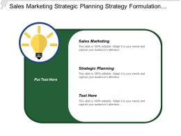 Sales Marketing Strategic Planning Strategy Formulation Service Development