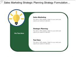 Sales Marketing Strategic Planning Strategy Formulation Service Development