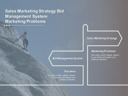 Sales Marketing Strategy Bid Management System Marketing Problems Cpb