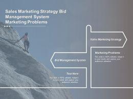 Sales Marketing Strategy Bid Management System Marketing Problems Cpb