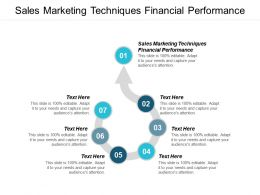 Sales Marketing Techniques Financial Performance Ppt Powerpoint Presentation Infographic Template Information Cpb