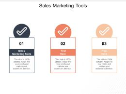 Sales Marketing Tools Ppt Powerpoint Presentation Gallery Guidelines Cpb