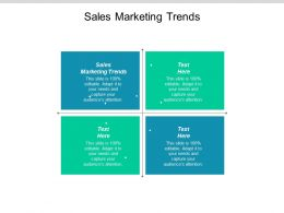 Sales Marketing Trends Ppt Powerpoint Presentation Slides Clipart Images Cpb