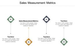 Sales Measurement Metrics Ppt Powerpoint Presentation Infographics Inspiration Cpb