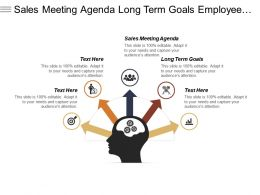 Sales Meeting Agenda Long Term Goals Employee Hiring