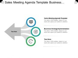 Sales Meeting Agenda Template Business Strategy Implementation Forecasting Strategic Cpb