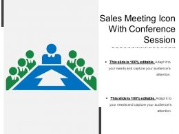 Sales Meeting Icon With Conference Session