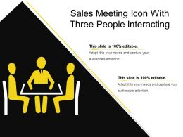 Sales Meeting Icon With Three People Interacting