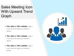 Sales Meeting Icon With Upward Trend Graph