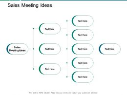 Sales Meeting Ideas Ppt Powerpoint Presentation Professional Visuals Cpb