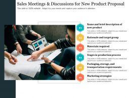 Sales Meetings And Discussions For New Product Proposal