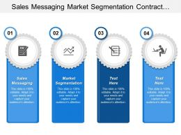 Sales Messaging Market Segmentation Contract Finalization Service Implementation